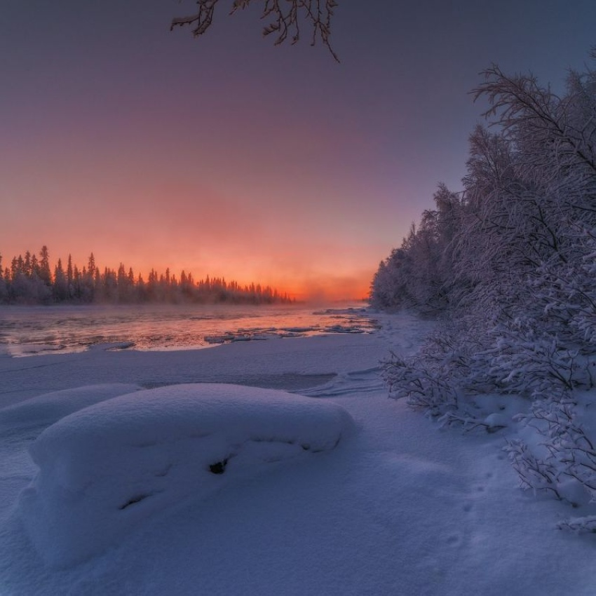 Зима в России - это красиво