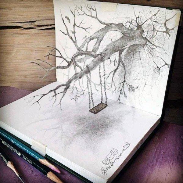 Самые впечатляющие карандашные 3D-рисунки от художников со всего света