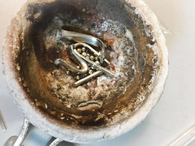 Переплавка поврежденного обручального кольца