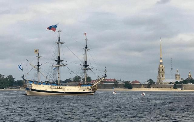Фотоотчет с военно-морского парада в честь Дня ВМФ в Санкт-Петербурге Всячина