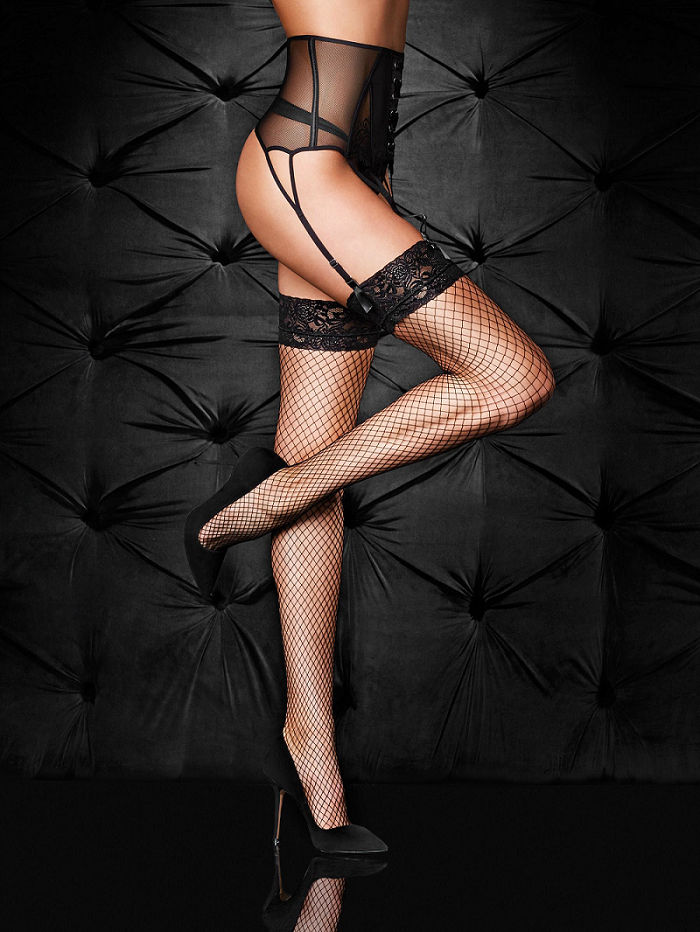 Fishnets sexy fetish lingerie stock photos