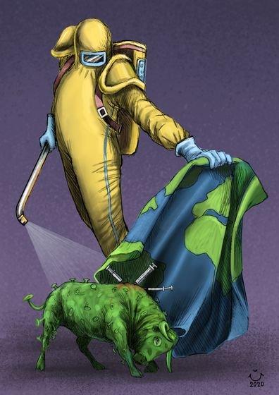 Карикатурная пандемия Всячина