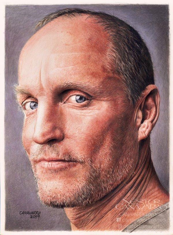 Гиперреалистичные цветные портреты карандашами художника Нестора Канаварро
