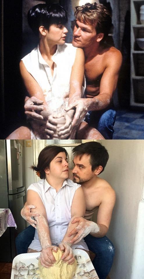 Пара из Венгрии на карантине воссоздаёт кадры из фильмов, используя все, что попадется под руку Всячина
