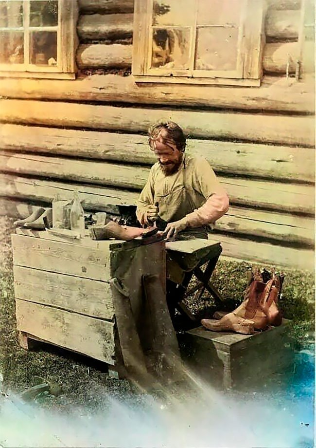 Редкие колонизированные фотографии русской деревни 1899 года Всячина