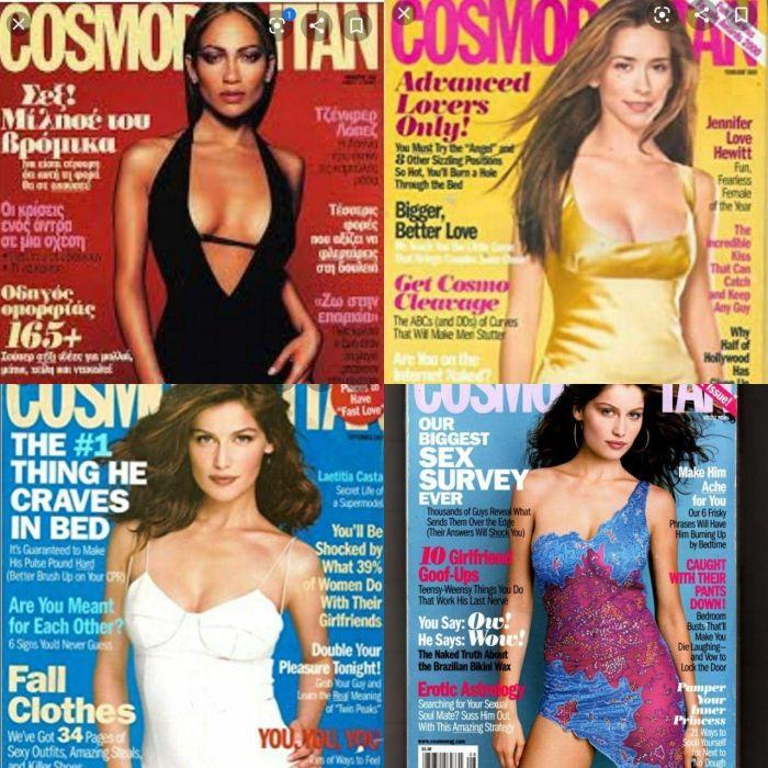Как за двадцать лет изменилась обложка Cosmopolitan Всячина