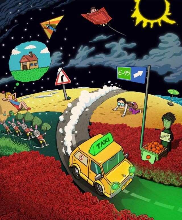 Головоломка для меломанов: найдите на картинке 15 спрятанных песен