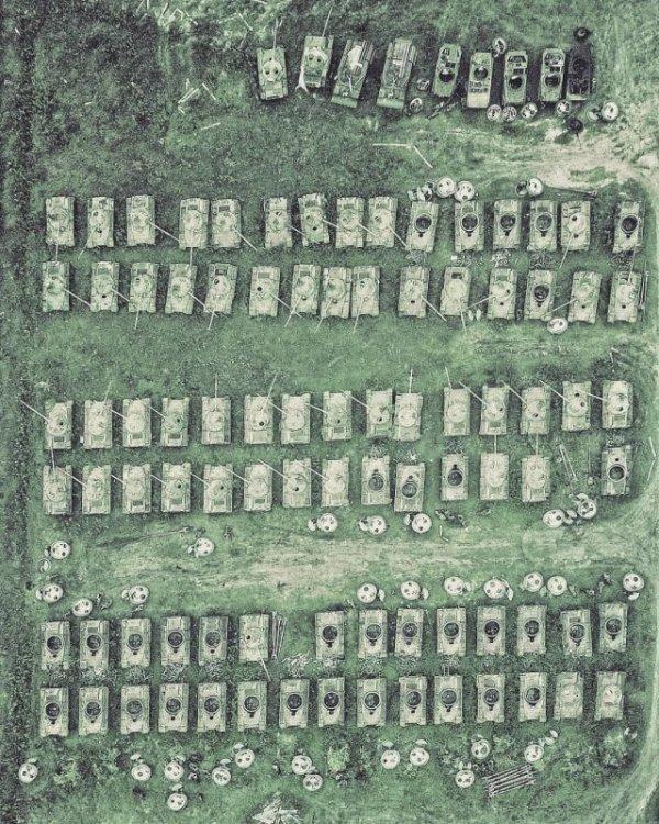 Кладбище российских танков в Сибири Всячина