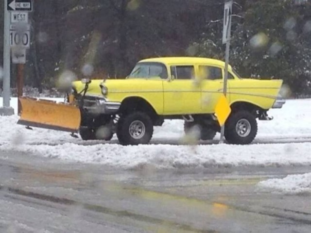 А как вы убираете снег? Всячина